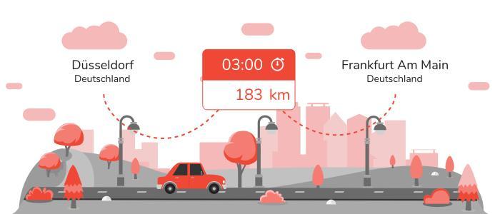 Mitfahrgelegenheit Düsseldorf Frankfurt am Main