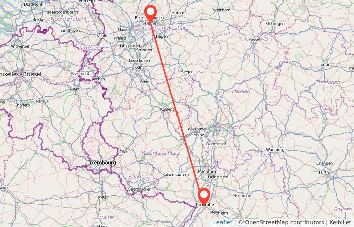 Karte Karlsruhe.Bahn Herne Karlsruhe Gopili De
