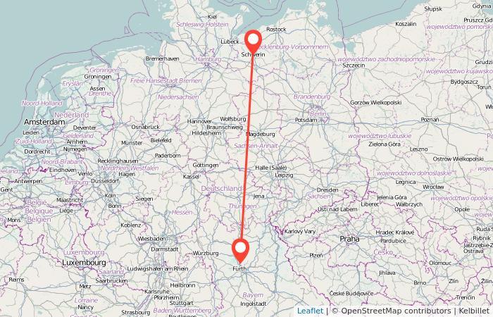 Erlangen Karte Deutschland.Bahn Erlangen Schwerin Ab 26 Gopili De