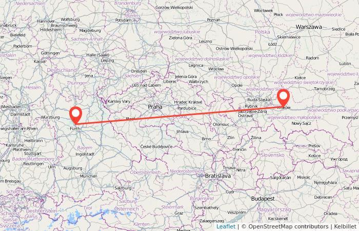 Erlangen Karte Deutschland.Bahn Erlangen Krakau Gopili De