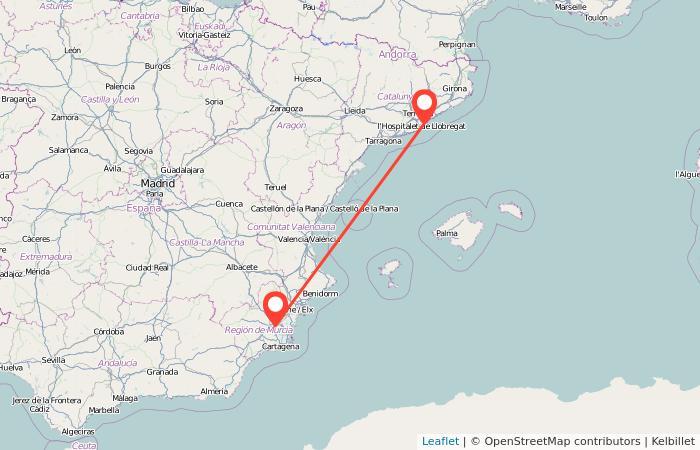 Autobús de Murcia a Barcelona: información general del viaje