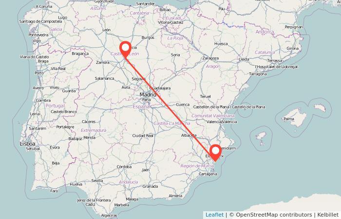 Mapa Guardamar Del Segura.Autobuses Guardamar Del Segura Valladolid Gopili Es