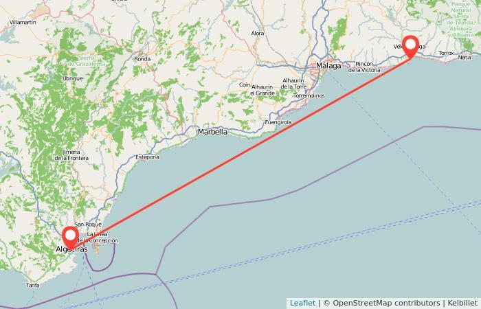 Mapa Torre Del Mar.Autobuses Algeciras Torre Del Mar Gopili Es