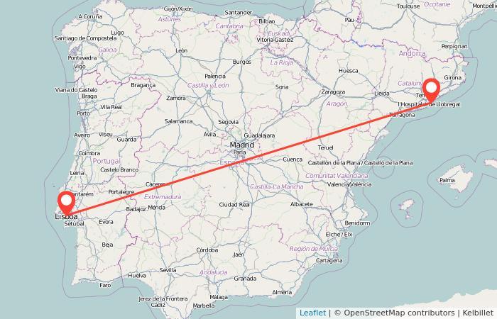 Mapa Recorrido Ave Barcelona Sevilla.Tren Barcelona Lisboa Gopili Es