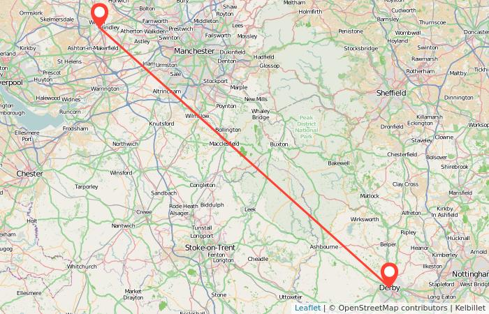 Map Of Uk Derby.Wigan To Derby Train Gopili Co Uk