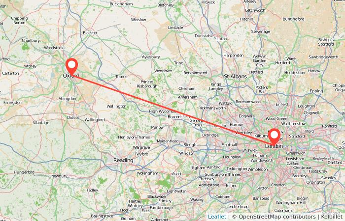 Map London To Oxford.Oxford To London Train From 6 Gopili Co Uk