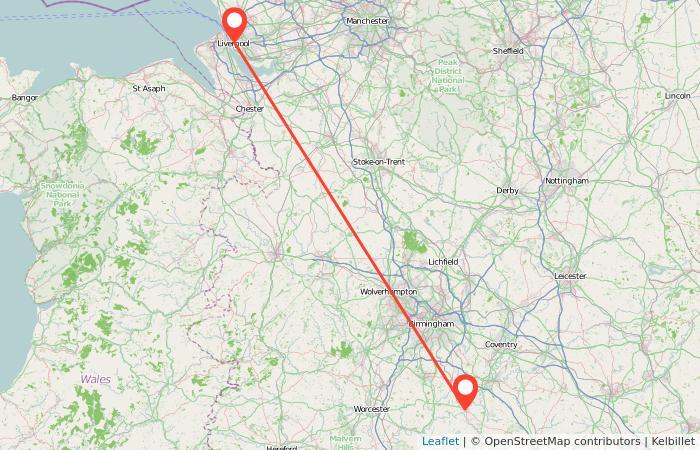 Liverpool Stratford Upon Avon Train Map