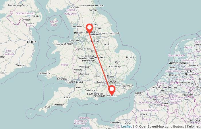 Map Of England Showing Halifax.Brighton To Halifax Train Gopili Co Uk