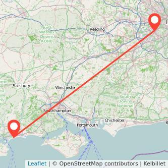 Twickenham Bournemouth train map