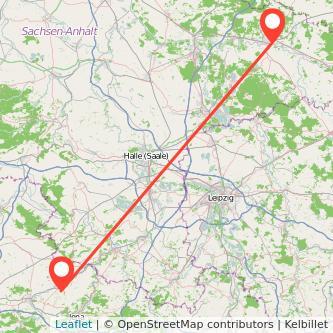 Lutherstadt Wittenberg Apolda Bahn Karte