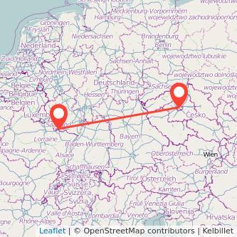 Prag Saarbrücken Mitfahrgelegenheit Karte