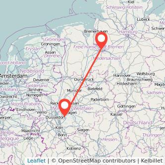 Wuppertal Bremen Bus Karte