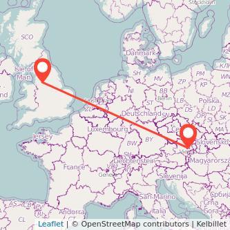 Vienna Manchester train map
