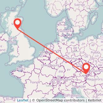 Vienna Edinburgh train map