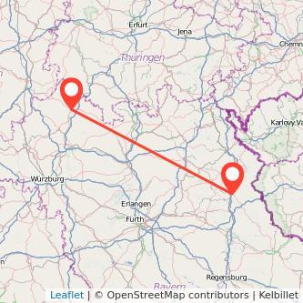 Weiden Bad Neustadt an der Saale Bus Karte
