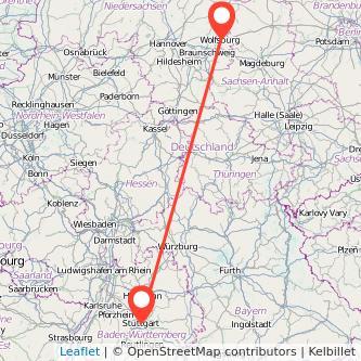 Stuttgart Wolfsburg Bahn Karte