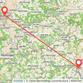 Stuttgart Ulm Bahn Karte