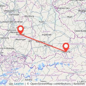 Stuttgart Salzburg Mitfahrgelegenheit Karte
