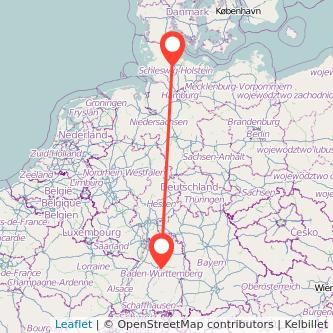 Stuttgart Rendsburg Mitfahrgelegenheit Karte