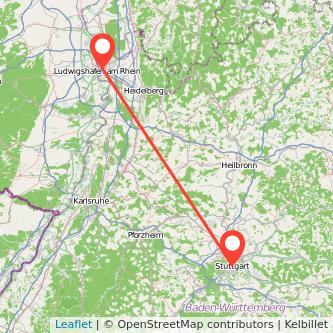 Stuttgart Mannheim Mitfahrgelegenheit Karte
