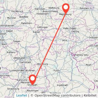 Stuttgart Magdeburg Mitfahrgelegenheit Karte