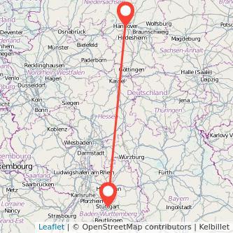 Stuttgart Hannover Bahn Karte