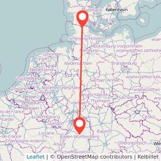 Stuttgart Flensburg Bahn Karte
