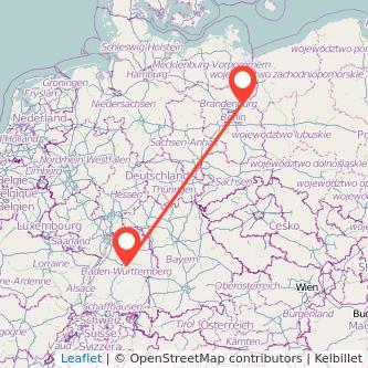 Stuttgart Eberswalde Bahn Karte