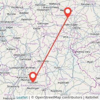 Stuttgart Bernburg Mitfahrgelegenheit Karte