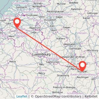 Stuttgart to Brussels train Gopilicouk