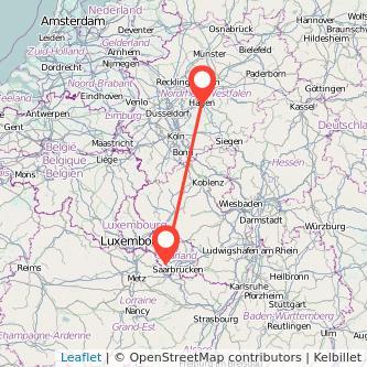 Saarlouis Hagen Bus Karte