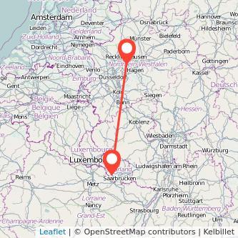 Saarlouis Bochum Bus Karte
