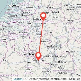 Saarbrücken Dortmund Bus Karte