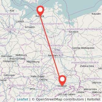 Rostock Dresden Mitfahrgelegenheit Karte