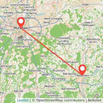 Rosenheim München Bahn Karte