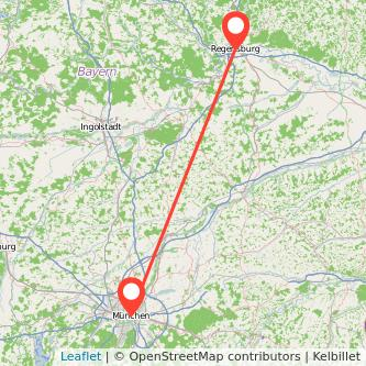 Regensburg München Mitfahrgelegenheit Karte