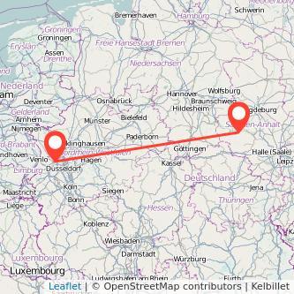 Quedlinburg Krefeld Bus Karte