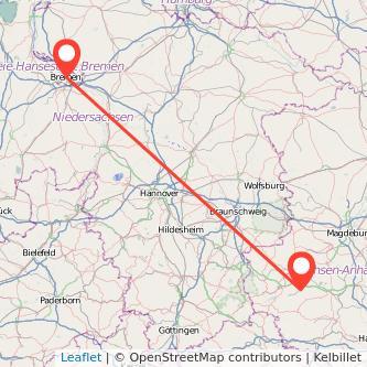 Quedlinburg Bremen Bus Karte