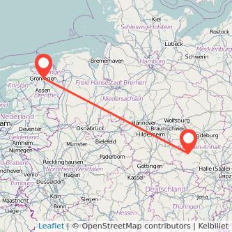 Quedlinburg Groningen Bus Karte