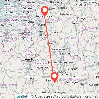 Offenburg Recklinghausen Bus Karte