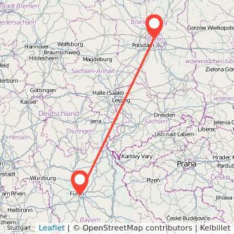 Nürnberg Berlin Mitfahrgelegenheit Karte