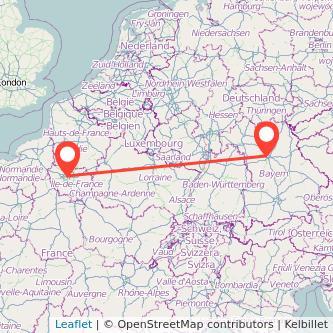 Nürnberg Paris Bahn Karte