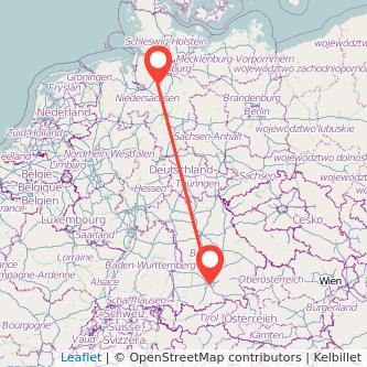München Scheeßel Mitfahrgelegenheit Karte
