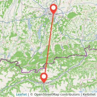 München Innsbruck Mitfahrgelegenheit Karte