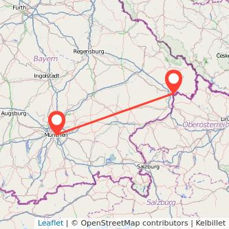 München Passau Mitfahrgelegenheit Karte