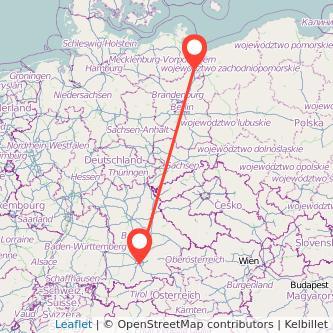 München Pasewalk Bus Karte