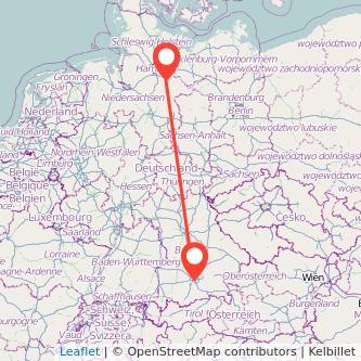 München Lüneburg Bahn Karte
