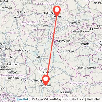 München Leipzig Mitfahrgelegenheit Karte
