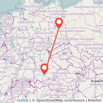 München Königs Wusterhausen Mitfahrgelegenheit Karte