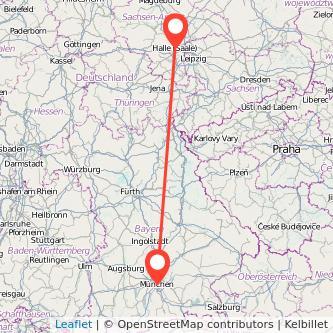 München Halle Bus Karte